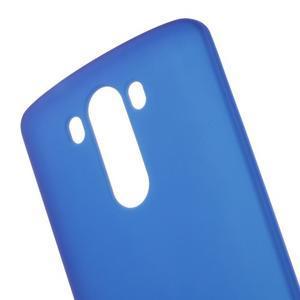 Matný gélový obal pre LG G3 - tmavomodrý - 4