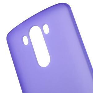 Matný gelový obal na LG G3 - fialový - 4