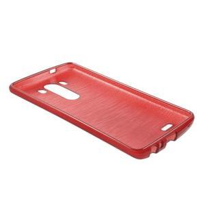 Brush gelový obal na LG G3 - červený - 4