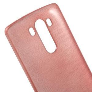Brush gelový obal na LG G3 - růžový - 4