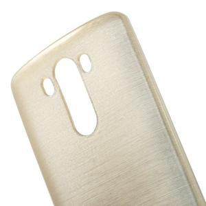 Brush gélový obal pre LG G3 - champagne - 4