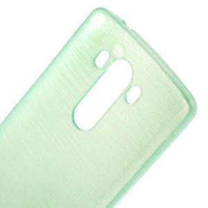 Brush gélový obal pre LG G3 - cyan - 4