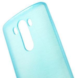 Brush gélový obal pre LG G3 - modrý - 4