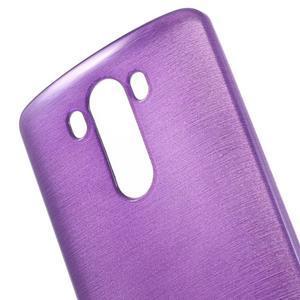 Brush gelový obal na LG G3 - fialový - 4