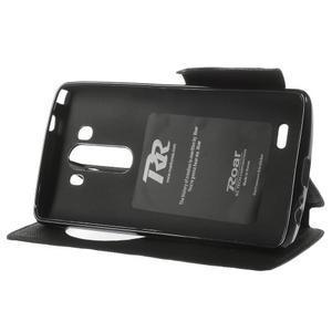 Diary puzdro s okienkom na mobil LG G3 - čierne - 4