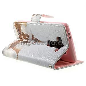 Zapínací peňaženkové puzdro pre LG G3 s - láska - 4