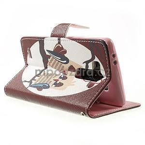 Zapínací peňaženkové puzdro pre LG G3 s - zamilovaní ptáčci - 4