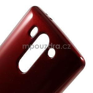 Odolný gélový obal na LG G3 s - tmavě červený - 4