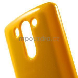 Odolný gélový obal na LG G3 s - oranžový - 4