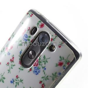 Gélový obal pre LG G3 s - kytičky - 4