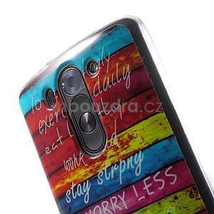Gélový obal pre LG G3 s - farebná cesta - 4