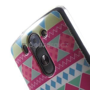 Gélový obal pre LG G3 s - geometrické tvary - 4