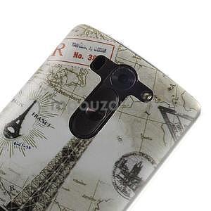 Ultra slim 0.6 mm gélový obal LG G3 s - Eiffelova veža - 4