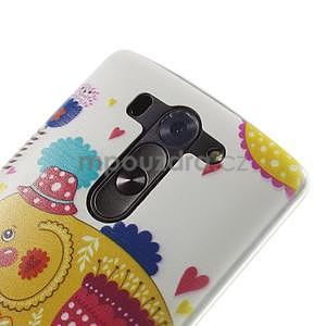 Ultra slim 0.6 mm gélový obal LG G3 s - sloník - 4