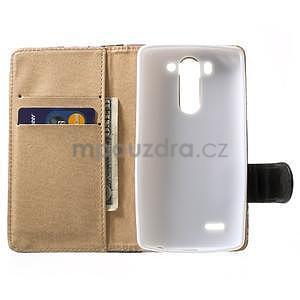 Elegantné lilie peňaženkové puzdro pre LG G3 s - fialové - 4