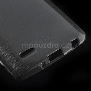 Broušený gélový obal na LG G3 s - šedý - 4