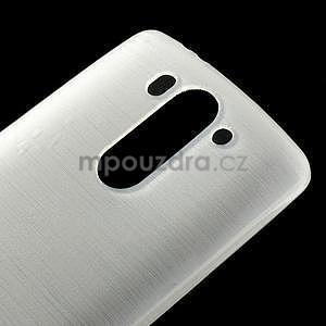 Brúsený gélový obal pre LG G3 s - biely - 4