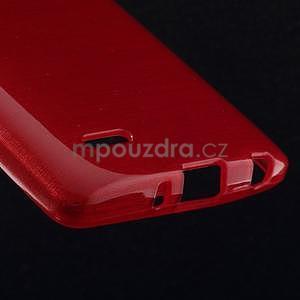 Brúsený gélový obal pre LG G3 s - červený - 4