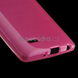 Broušený gélový obal na LG G3 s - rose - 4