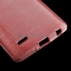 Broušený gélový obal na LG G3 s - růžový - 4