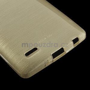 Broušený gélový obal na LG G3 s - zlatý - 4