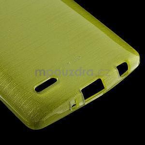 Brúsený gélový obal pre LG G3 s - zelený - 4