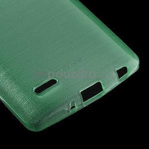 Broušený gélový obal na LG G3 s - azurový - 4