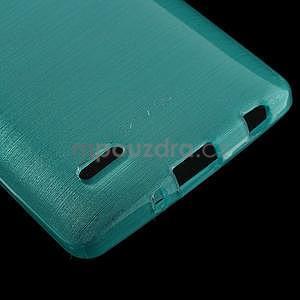 Broušený gélový obal na LG G3 s - tyrkysový - 4
