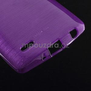Brúsený gélový obal pre LG G3 s - fialový - 4