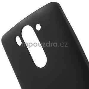 Čierny matný gélový kryt LG G3 s - 4