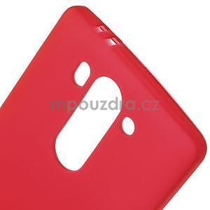Červený matný gélový kryt LG G3 s - 4