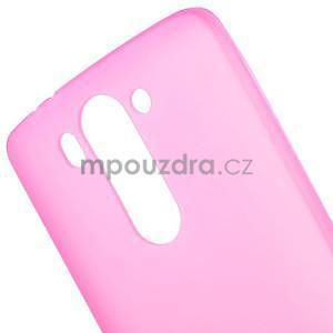 Rose matný gélový kryt LG G3 s - 4