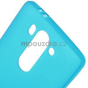 Světle modrý matný gélový kryt LG G3 s - 4