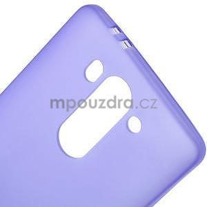 Fialový matný gélový kryt LG G3 s - 4