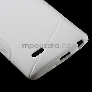 S-line biely gélový obal na LG G3 s - 4