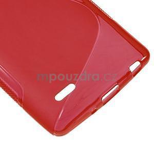 S-line červený gélový obal pre LG G3 s - 4