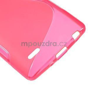 S-line rose gélový obal pre LG G3 s - 4
