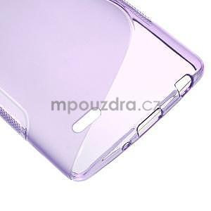 S-line fialový gélový obal pre LG G3 s - 4