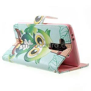 Zapínací peňaženkové puzdro pre LG G3 s - ptáček - 4