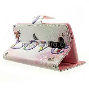 Zapínací peňaženkové puzdro pre LG G3 s - love - 4