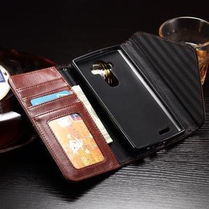 Enlop peněženkové pouzdro na LG G4 - hnědé/černé - 4