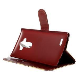 Koženkové puzdro pre mobil LG G4 - motýľe - 4