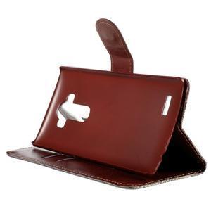 Koženkové puzdro pre mobil LG G4 - Henna - 4