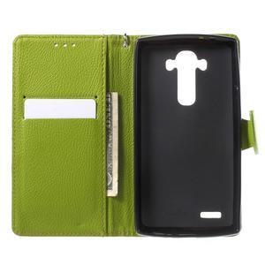 Leaf peněženkové pouzdro na mobil LG G4 - hnědé - 4
