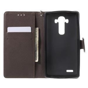 Leaf peněženkové pouzdro na mobil LG G4 - zelené - 4