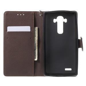 Leaf peněženkové pouzdro na mobil LG G4 - červené - 4