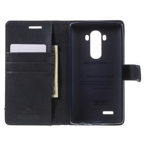 Luxury PU kožené puzdro pre mobil LG G4 - tmavomodré - 4
