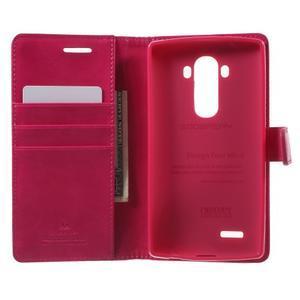 Luxury PU kožené puzdro pre mobil LG G4 - rose - 4