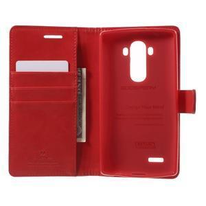 Luxury PU kožené pouzdro na mobil LG G4 - červené - 4