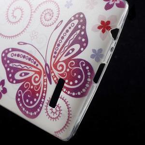 Softy gelový obal na mobil LG G4 - motýlek - 4